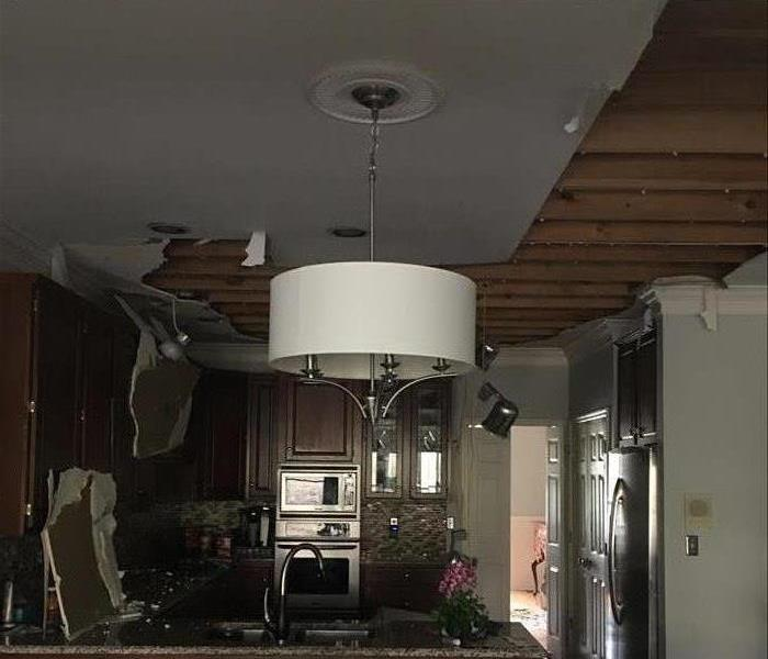 Storm Damage Busted Pipe In Oak Ridge Home